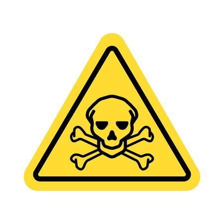 warning sign with skull symbol Ilustração
