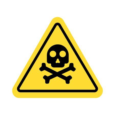 warning sign with skull symbol Illustration
