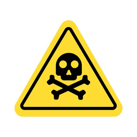 warning sign with skull symbol Imagens - 148848086