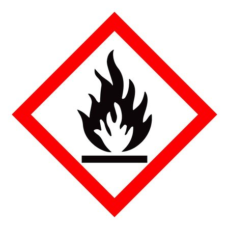 Standard Pictogam of Flammable Symbol, Warning sign of Globally Harmonized System (GHS) Imagens - 148848093