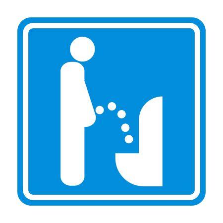 Sign toilet for a man urine vector Illustration