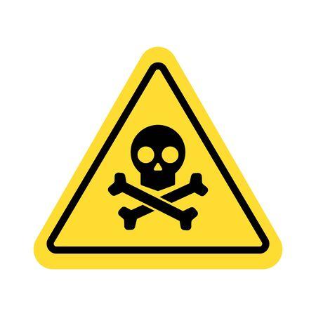 warning sign with skull symbol Imagens - 148848118
