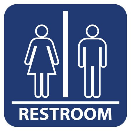 Man and women restroom vector sign, Toilet icon.