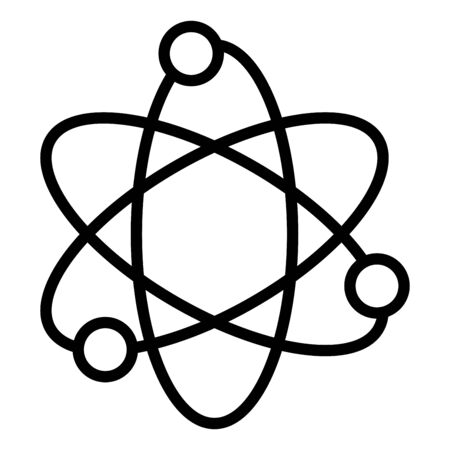 science icon, atom sign vector esp10