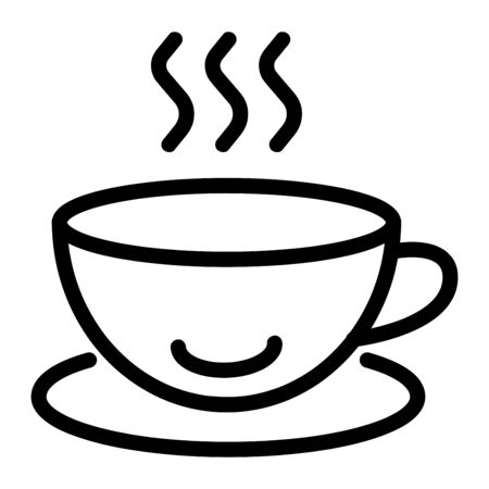 Cup of coffee sign vector Ilustração