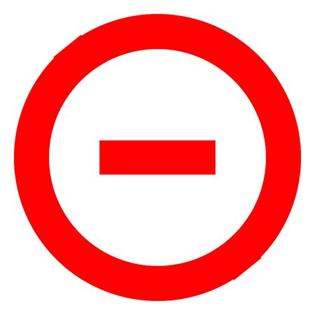 No, stop sign icon vector ESP10, red warning isolated on white