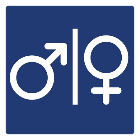 Male and female sign symbol set . icon vector illustration on white background.