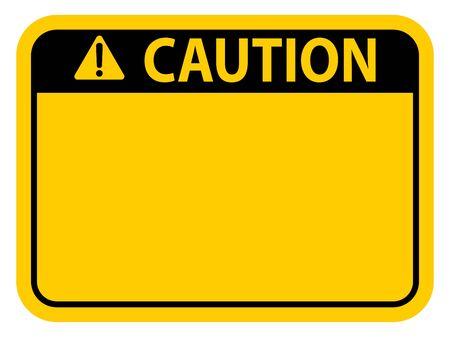 Yellow caution warning sign. ESP10