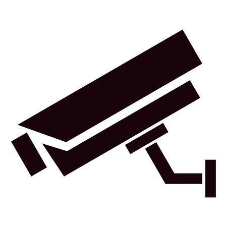 Fixed CCTV, Security Camera Icon Template Illustration Design