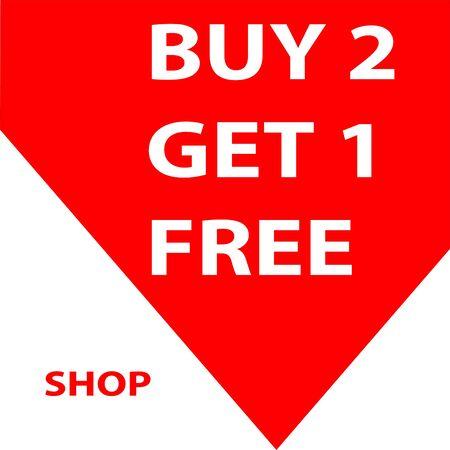 buy 1 get 1 free sale banner Ilustração