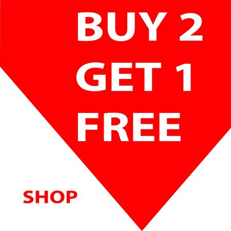 buy 1 get 1 free sale banner Illustration