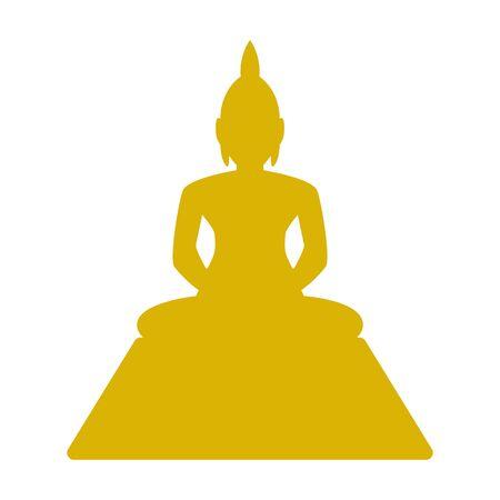 Thai Buddha vector illustration