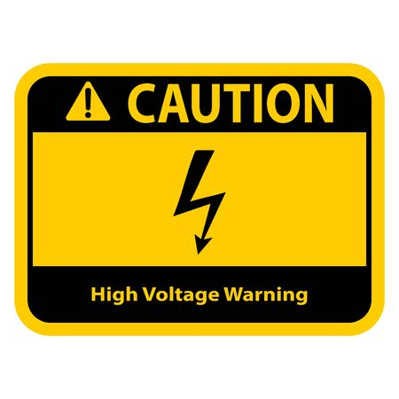 Standard Pictogam of High voltage Symbol, Warning sign of Globally Harmonized System (GHS)