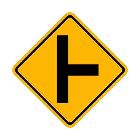 Right side road traffic sign Ilustração