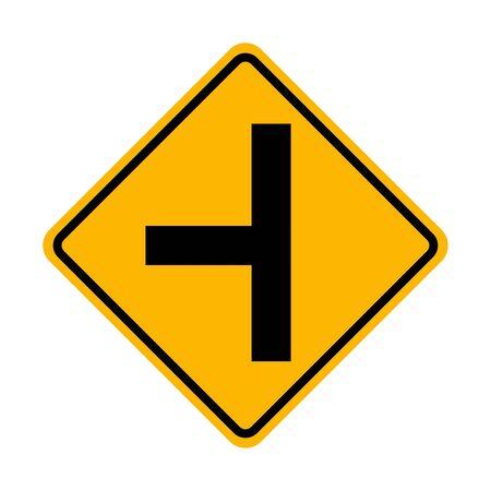 Left side road traffic sign