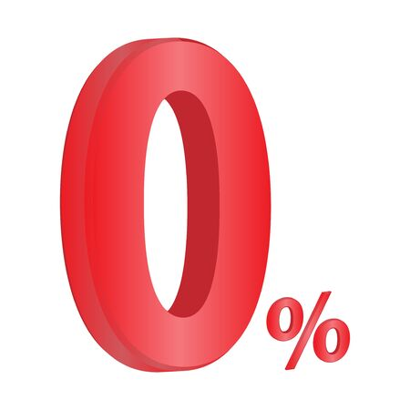 0% Vector illustration, Sale percentage Concept. Ilustração