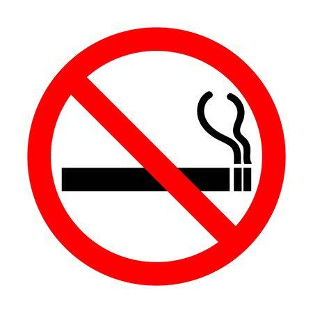 No Smoking Vector sign Ilustração