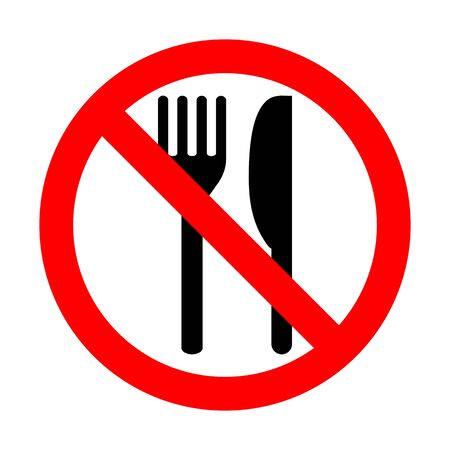Do Not Eat Vector Sign