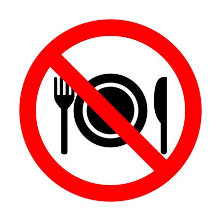 Do Not Eat Vector Sign Imagens - 148849020