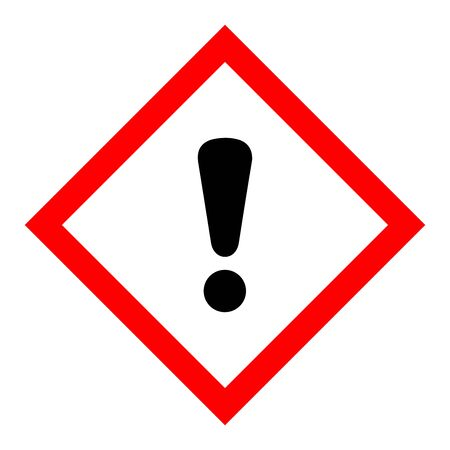 Standard Pictogam of Harmful Symbol, Warning sign of Globally Harmonized System (GHS) vector ESP10
