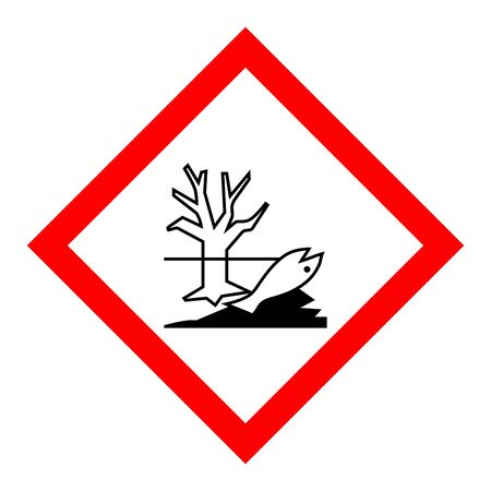 Standard Pictogam of Environmental hazard Symbol, Warning sign of Globally Harmonized System (GHS)