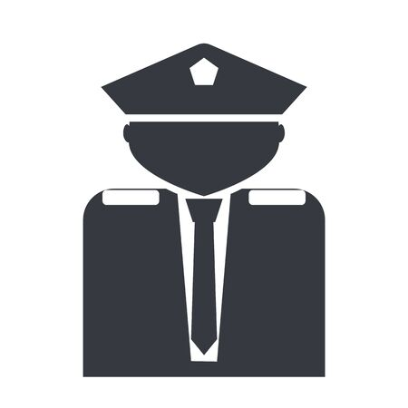 Commander, guard, officer, police, police officer, policeman, security guard icon Imagens - 148690717