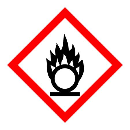 Standard Pictogam of Oxidizing Symbol, Warning sign of Globally Harmonized System (GHS)