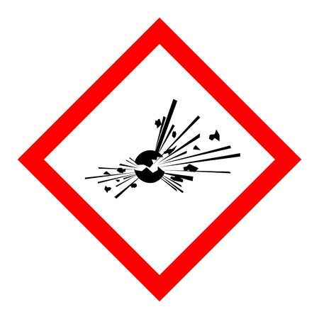 Standard Pictogam of Explosive Symbol, Warning sign of Globally Harmonized System (GHS)