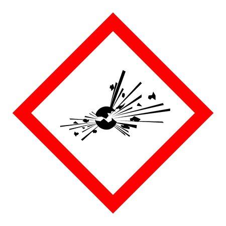 Standard Pictogam of Explosive Symbol, Warning sign of Globally Harmonized System (GHS)