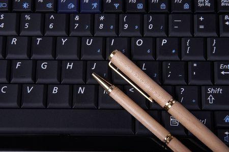 pen on keyboard Stock Photo - 4208944