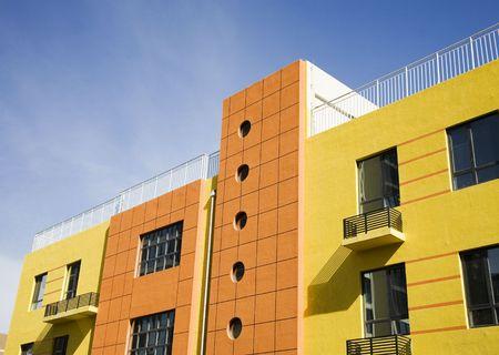 case moderne: Moderno edificio Archivio Fotografico