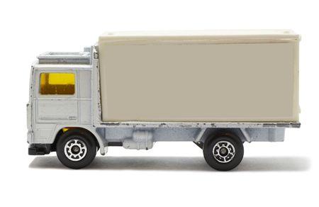 white truck(toy). photo