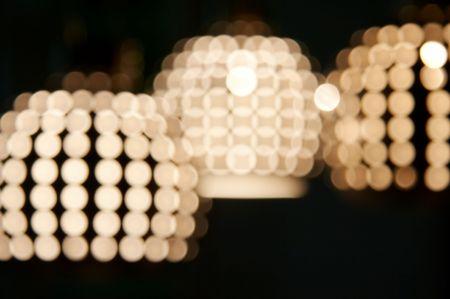 yellow blur effect lighting on dark photo