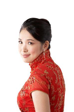 beautiful asian woman portrait. photo