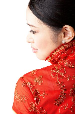 traditional clothes: asian woman