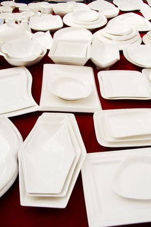 dinnerware: dinnerware shopping Stock Photo