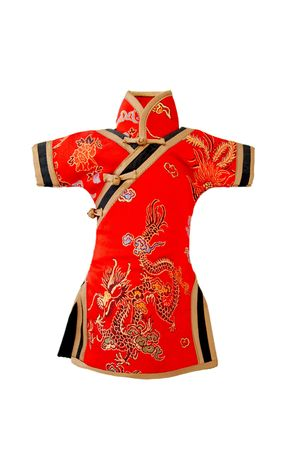 traditional costume: traditional chinese clothes, isolated on white background.