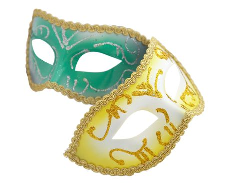 Venetian mask on the white background photo