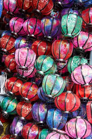 colorful lantern: Colorful lantern on market stall,Beijing,China