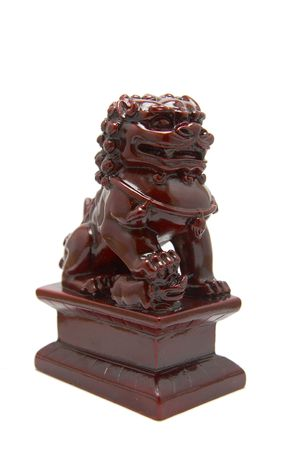 lion figurines: chinese lion sculpture Stock Photo
