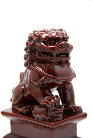 lion figurines: Chinese dragon sculpture