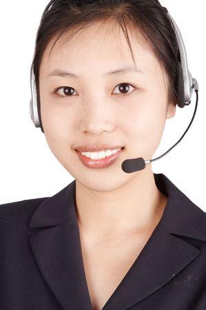 smiling businesswoman,isolated on white background. photo