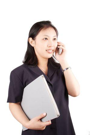 subordinated: business woman Stock Photo