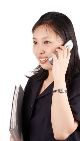 subordinated: business woman Stock Photo