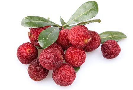ericaceae: summer fruit - arbutus Stock Photo