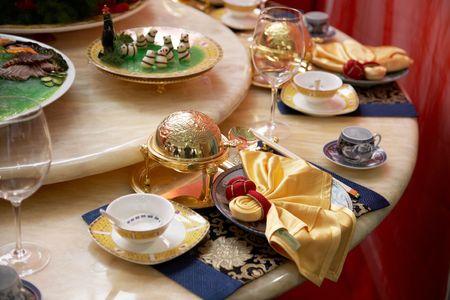 fine silver: luxury restaurant table setting