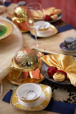 luxury table setting photo