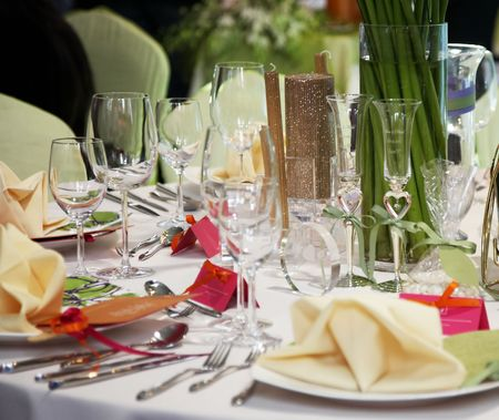 luxury table setting Stock Photo - 5039458