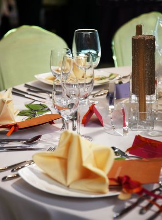 cater: luxury table setting