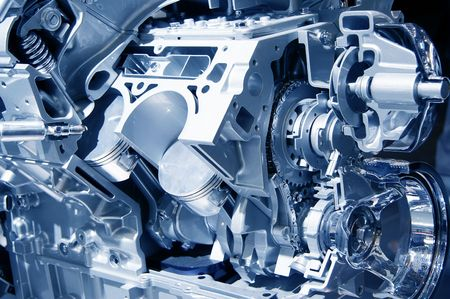 electric automobile: car  engine